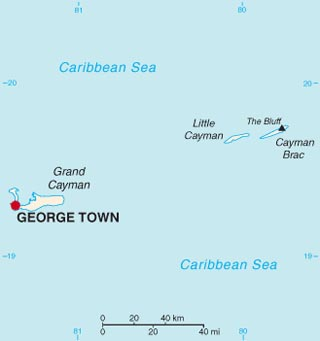 Cayman latitude and longitude map