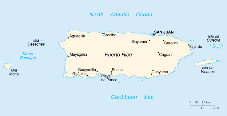 Puerto rico cia map print this map gumiabroncs Choice Image