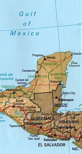cozumel photographs map of cozumel