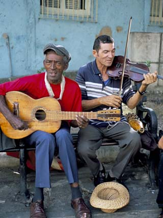 Musicians Playing Salsa, Santiago De Cuba, Cuba, West Indies, Central America