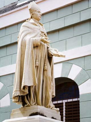 Martinus Joannes Niewindt Statue, Basilica Santa Ana, Willemstad, Curacao, West Indies