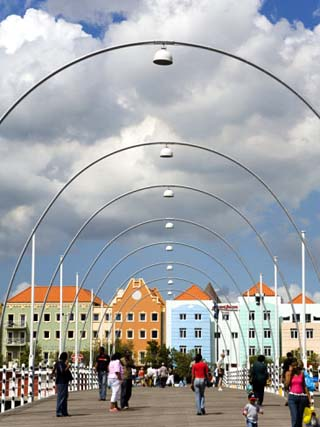 Queen Emma Bridge, Willemstad, Curacao, Netherlands Antilles, West Indies, Caribbean