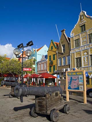 Stores on Handelskade, Punda District, Willemstad, Curacao, Netherlands Antilles, West Indies