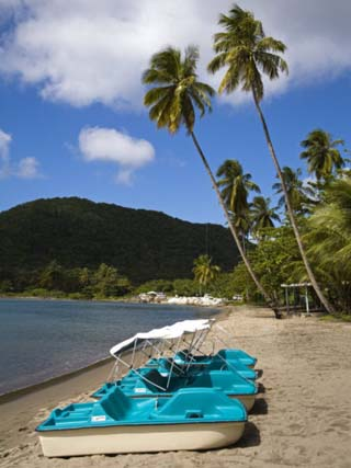 Purple Turtle Beach Club, Prince Rupert Bay, Portsmouth, Dominica, Windward Islands, West Indies