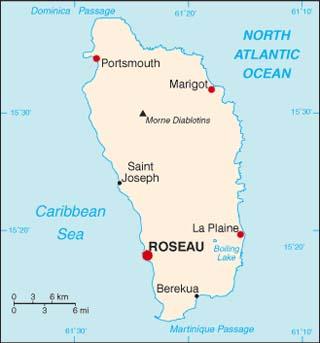 Dominica latitude and longitude map