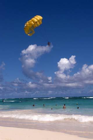 Parasailing, Bavaro, Higuey, Punta Cana, Dominican Republic
