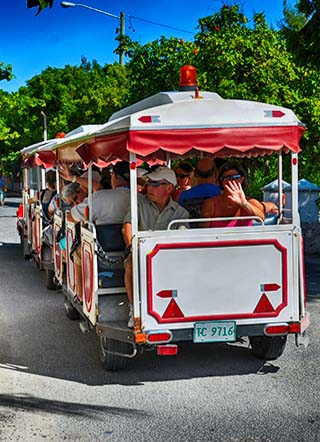 trolley train grand turk