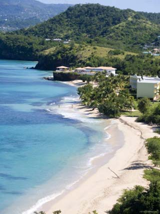 Magazine Beach from Maca Bana Villas, Point Salines, Grand Anse, St. George, Grenada