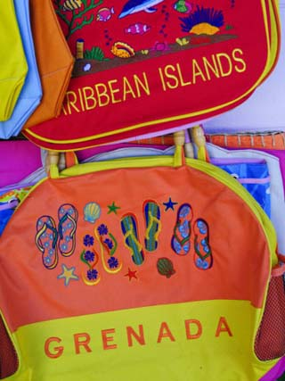 Souvenirs at Grand Anse Craft and Spice Market, Grenada, Windward Islands, Caribbean