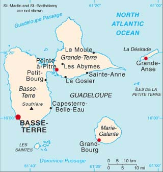 guadeloupe latitude longitude map