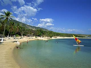 Beach at the Kyona Beach Club, Near Port Au Prince, Haiti, West Indies, Caribbean