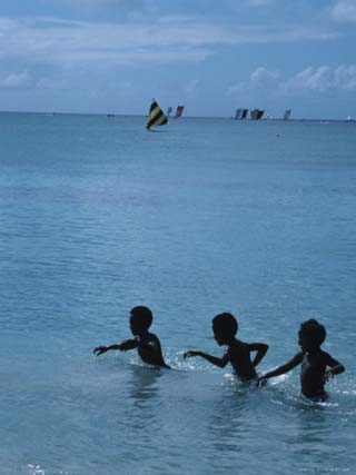 Children Swimming in the Sea, Martinique