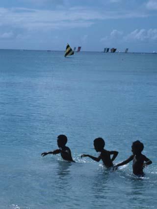 Children Swimming in the Sea, Martinique
