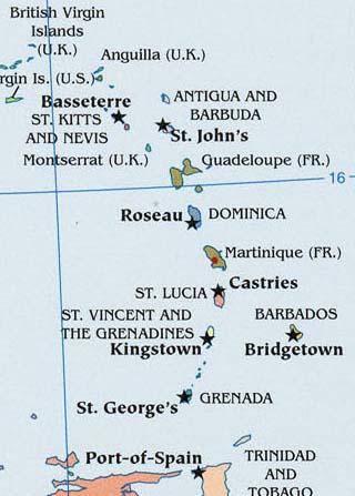 martinique latitude and longitude map