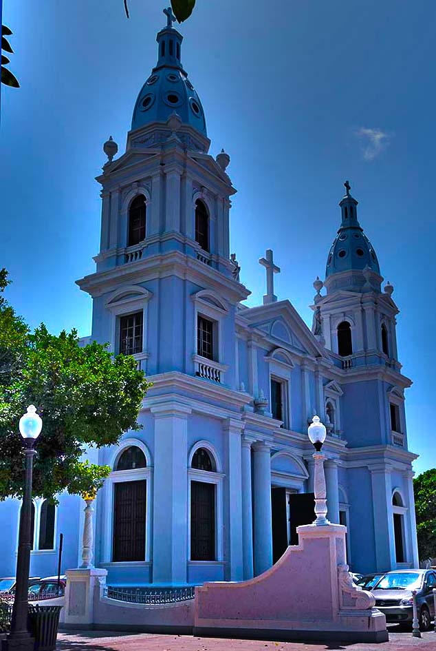 colorful church ponce puerto rico