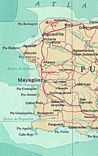 Puerto Rico map