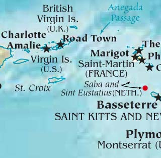 Saint Eustatius latitude and longitude map