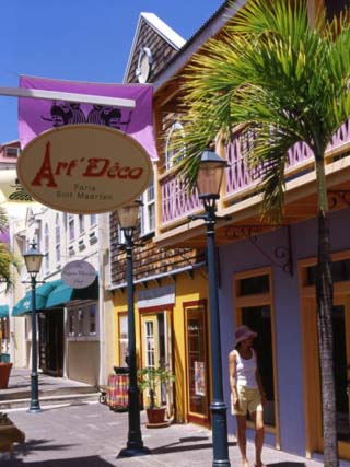 Old Street of Philipsburg, St. Martin, Caribbean