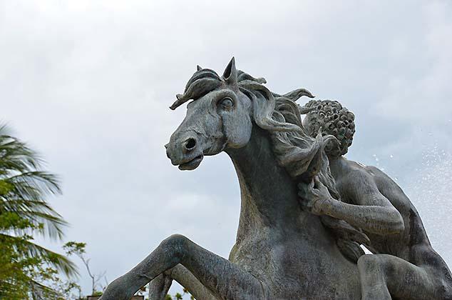 horse statue old san juan