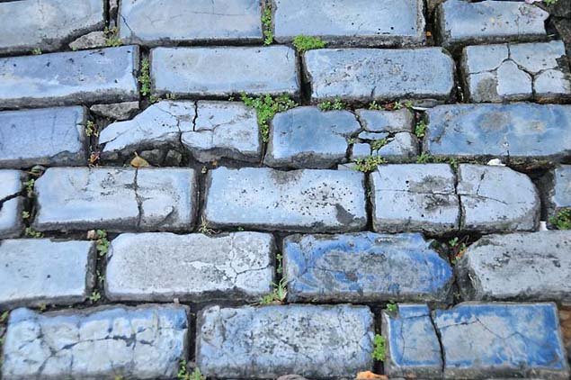 blue brick streets in old san juan