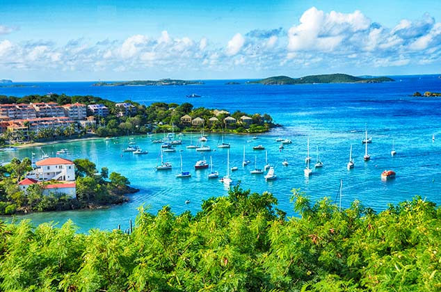 St Thomas Virgin Islands Restaurants Map