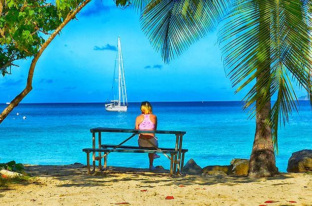 beach scene st. john