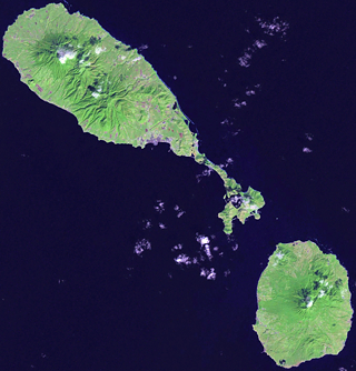 satellite image st kitts and nevis