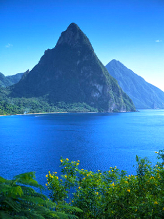 The Pitons, St. Lucia, Windward Islands, West Indies, Caribbean, Central America