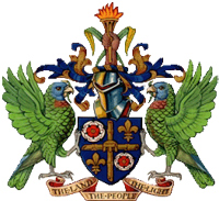 saint lucia coat of arms