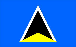 Flag of Saint Lucia 1967 - 1979