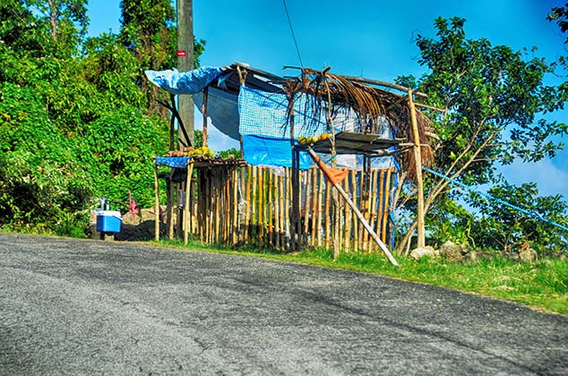 road side stand st. lucia