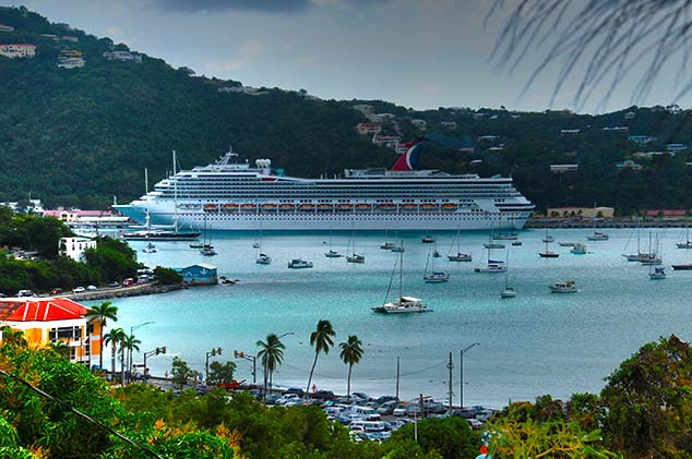 crusie ship st. thomas