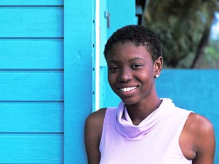 Young Local Woman in St. Vincent and the Grenadines