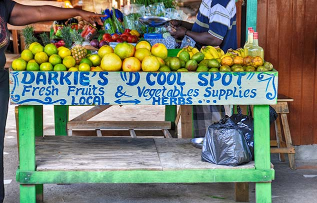 veggies for sale bequia