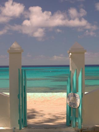 Front Street Gate on Grand Turk Island, Turks and Caicos, Caribbean