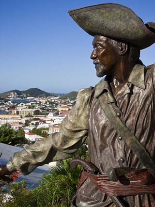 Sculpture in Blackbeard's Castle, St. Thomas, U.S. Virgin Islands, West Indies