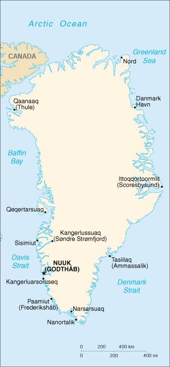 cia greenland map