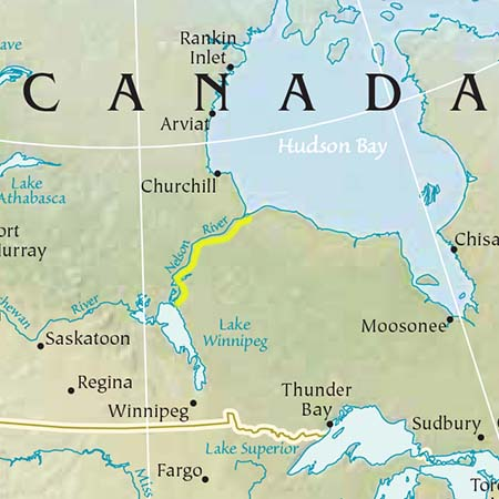 river map with canada - photo #35