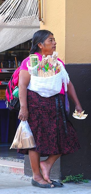 street vendor huatulco mexico