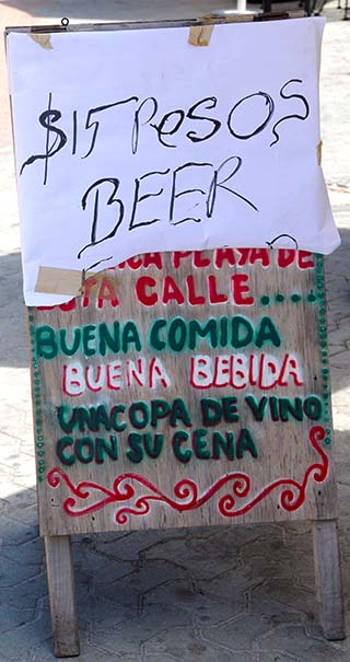 beer sign isla mujeres