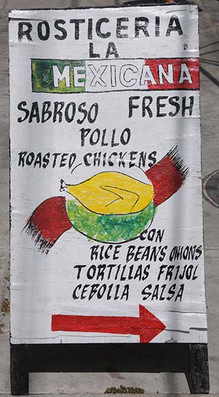 food sign isla mujeres