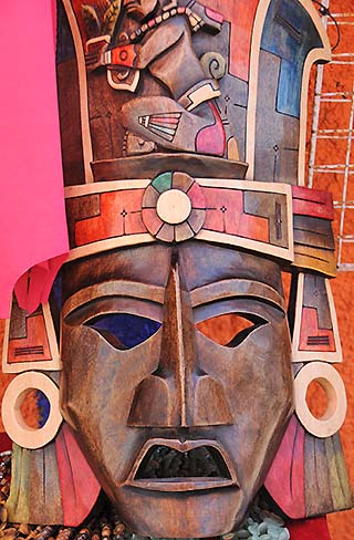wooden mask isla mujeres