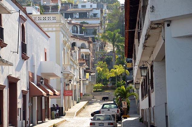city street puerto vallarta