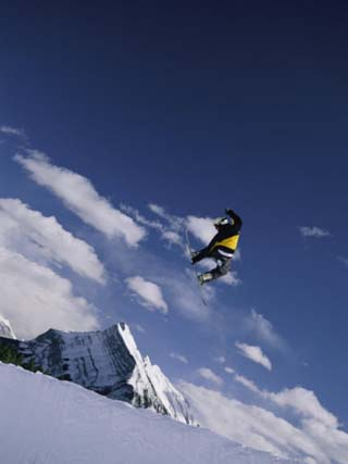 Snowboarding at Mount Norquay in Alberta