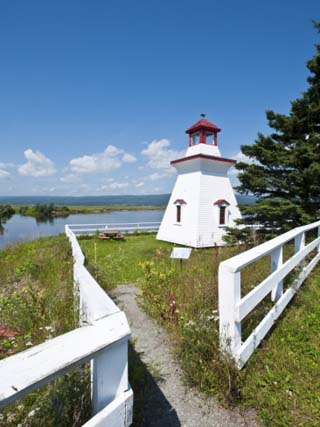 Anderson Hallow Lighthouse in Riverside-Albert, New Brunswick, Canada, North America
