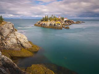 East Quoddy (Head Harbour) Lighthouse, Campobello Island, New Brunswick, Canada, North America