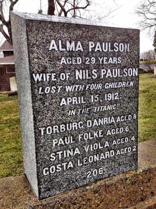 paulson headstone