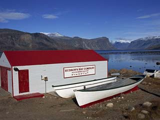 Hudson Bay Company Building, Pangnitung, Baffin Island, Canadian Arctic, Canada, North America