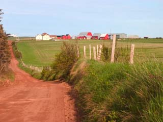 Country Road and Farm, Prince Edward Island, Canada