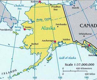 alaska latitude and longitude map